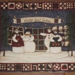 スノーマンのクリスマス柄のパネル