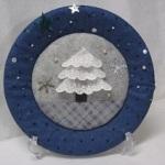 紙皿を使ったクリスマスツリーの簡単絵皿風飾りの作り方