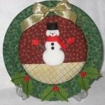 紙皿を使ったクリスマスのスノーマンの絵皿飾りの作り方