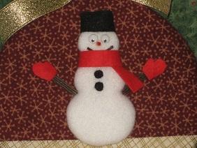 紙皿雪だるま5