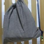 100均商品の「のれん」を使った簡単!大きな巾着袋の作り方