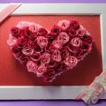 母の日のプレゼントを手作りで「バラのフレーム」の飾り