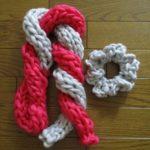 極太毛糸のビッグロービングは簡単シュシュや指編みに最適!