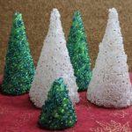 100均ビーズのアレンジでミニクリスマスツリーを簡単に作る方法!