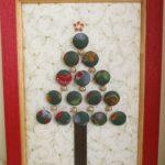 100均のくるみボタンで作る簡単クリスマスツリーの作り方2種類!