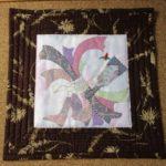 簡単キルトのお正月飾り のしの和柄とシャドウキルトで華やかに!