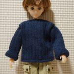 お人形のお洋服作り 靴下を使った簡単セーター