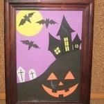 簡単!写真フレームを使ったハロウィンかぼちゃの切り絵飾り