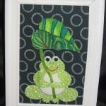 100均商品と布を使った雨の日のカエルの作り方パート2