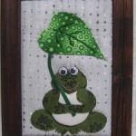 100均商品と布を使った雨の日のカエルの飾りの作り方PART1