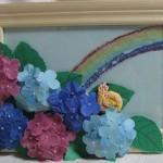 100均商品と布を使った紫陽花の作り方