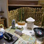 ドールハウスの和室に庭があると和風な空間の出来上がり!