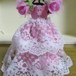 ドールハウス100均商品で花のお袖のお姫様ドレス 作り直しです!