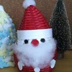 クリスマス100均の手芸キット 手作り感満載のサンタの出来上がり!