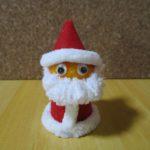 クリスマスの飾り 100均商品でサンタを作ってみました。